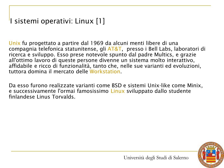 I sistemi operativi: Linux [1]